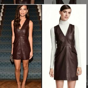 NWT H&M Genuine Soft Leather Dress in Brown